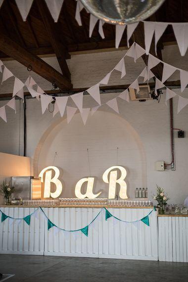 Marquee Lights & Bunting Wedding Decor