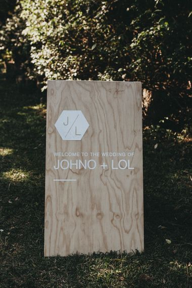 Wooden Wedding Sign | Outdoor Woodland Ceremony & Jex Estate Reception in South Africa | Michigan Behn Photography