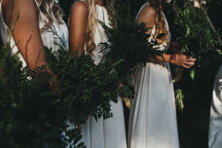 Greenery Bouquet | Outdoor Woodland Ceremony & Jex Estate Reception in South Africa | Michigan Behn Photography