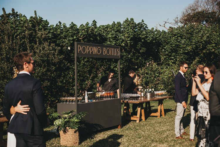 Bar | Outdoor Woodland Ceremony & Jex Estate Reception in South Africa | Michigan Behn Photography