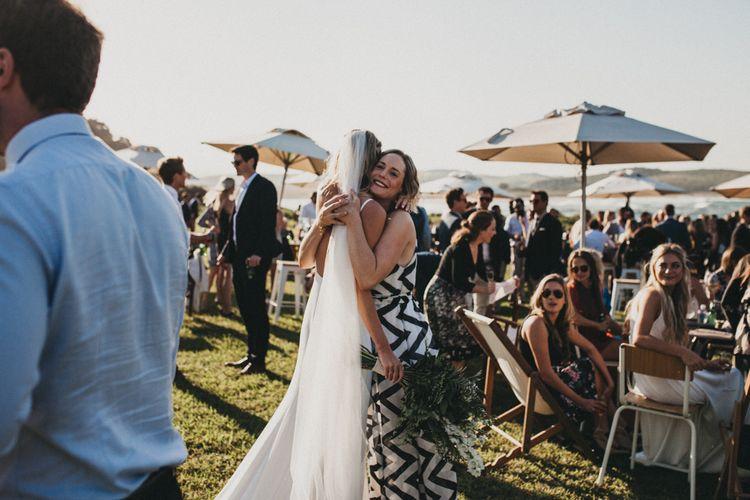 Bride in Bespoke Julia Ferrandi Backless Wedding Gown | Outdoor Woodland Ceremony & Jex Estate Reception in South Africa | Michigan Behn Photography