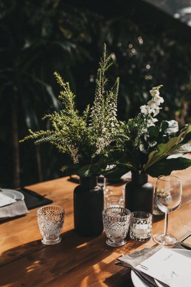Greenery & White Floral Centrepieces | Outdoor Woodland Ceremony & Jex Estate Reception in South Africa | Michigan Behn Photography
