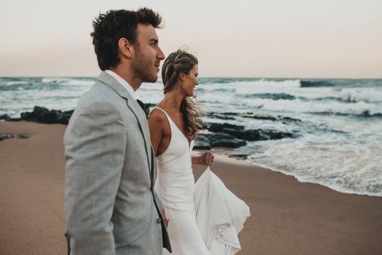 Coastal Bride & Groom Portrait | Outdoor Woodland Wedding in South Africa | Michigan Behn Photography