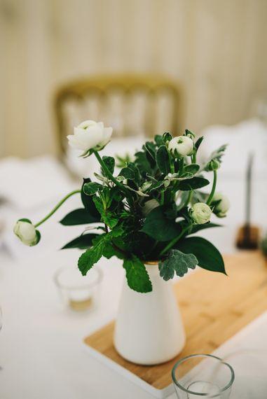 White Flowers in Pitcher Jug | Rachel Joyce Photography