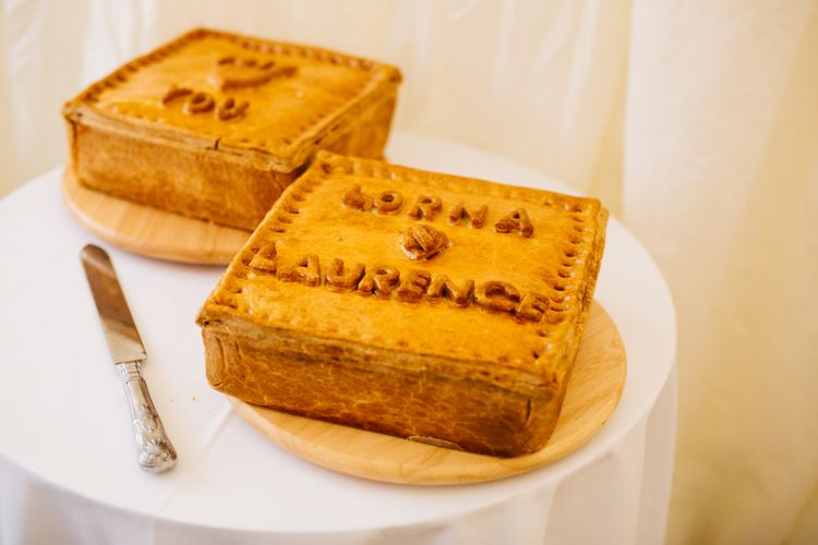 Personalised Pork Pies | Relaxed Country Pub Wedding | Rachel Joyce Photography