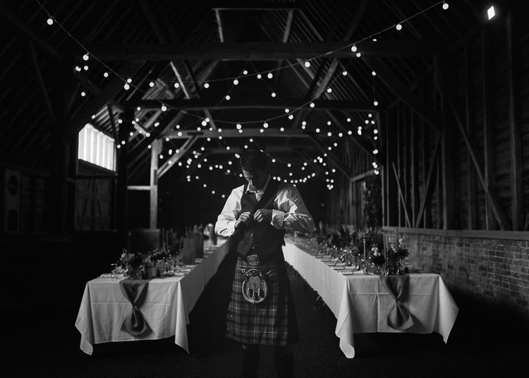 North Hidden Barn with Festoon Lights