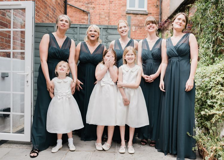 Bridesmaids In Grey Dresses by Debenhams
