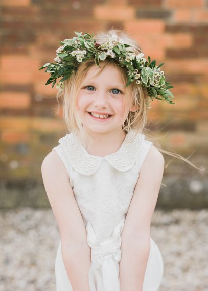 Flower Girl With Oversized Foliage Crown