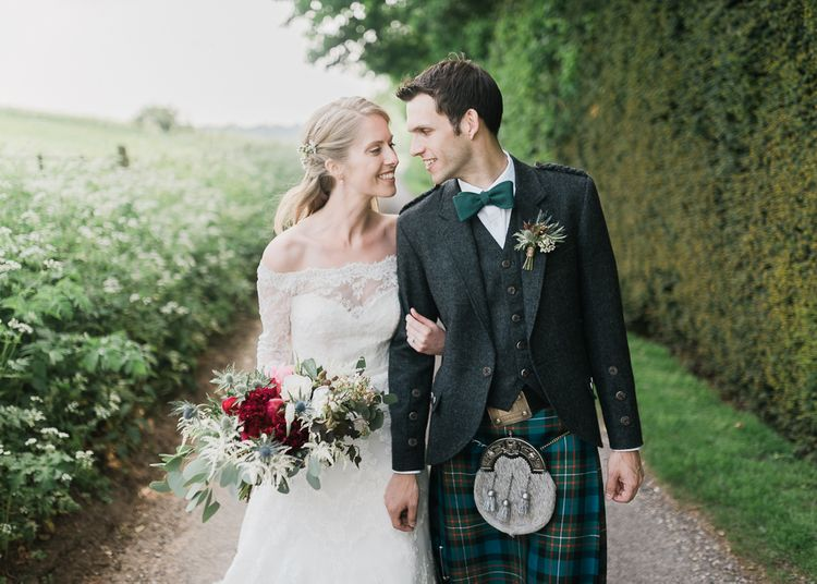 Bride & Groom in Kilt