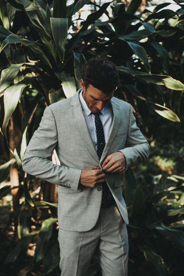 Groomswear // Light Grey Suit With Dark Tie