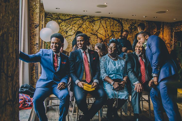 Groomsmen at the Altar | Stylish London Wedding Planned by Revelry Events | Story + Colour Photography