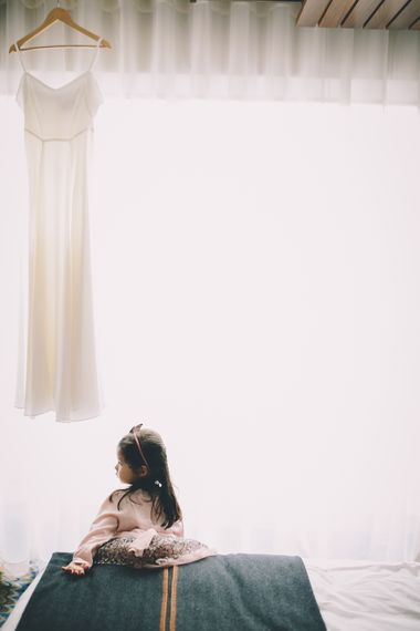 Flower Girl | Wedding Morning Preparations | Stylish London Wedding Planned by Revelry Events | Story + Colour Photography