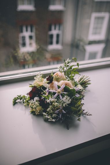 Wild Flower Bouquet | Stylish London Wedding Planned by Revelry Events | Story + Colour Photography