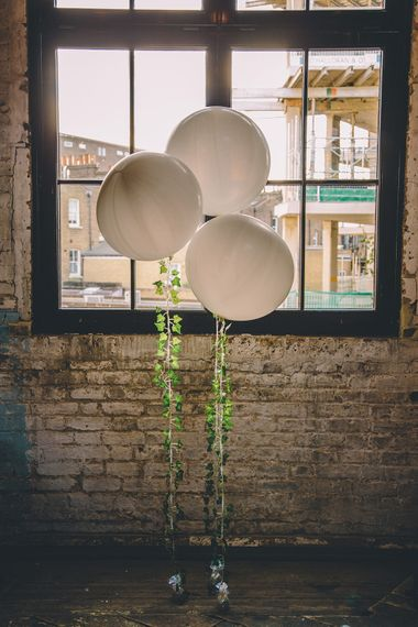 Giant Balloons Wedding Decor | Stylish London Wedding Planned by Revelry Events | Story + Colour Photography