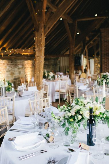 Soft & Romantic Flowers For A Grittenham Barn Wedding