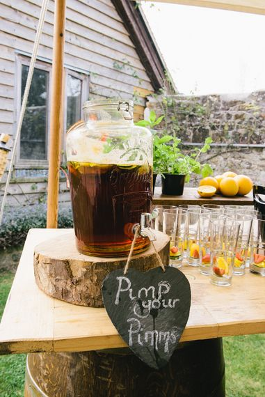 Pimp Your Pimms Bar Wedding