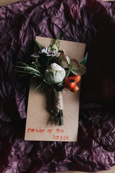 Buttonhole | Intimate Ceremony at Stoke Newington Town Hall | Miss Gen Photography