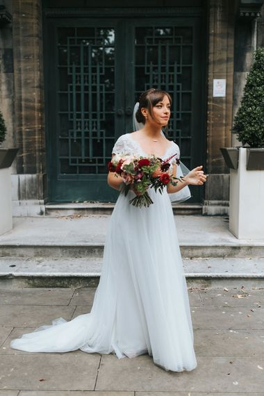 Bride in Cymbeline Wedding Dress | Intimate Ceremony at Stoke Newington Town Hall | Miss Gen Photography