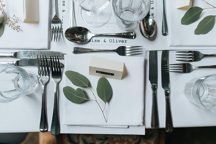 Place Setting | Laid Back Pub Wedding at The Londesborough | Miss Gen Photography