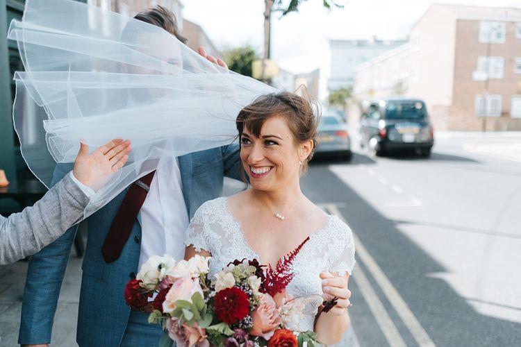 Bride in Cymbeline Wedding Dress | Laid Back Pub Wedding at The Londesborough | Miss Gen Photography