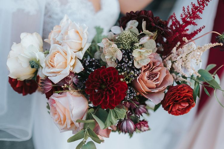Red & Pink Water Flowers | Laid Back Pub Wedding at The Londesborough | Miss Gen Photography
