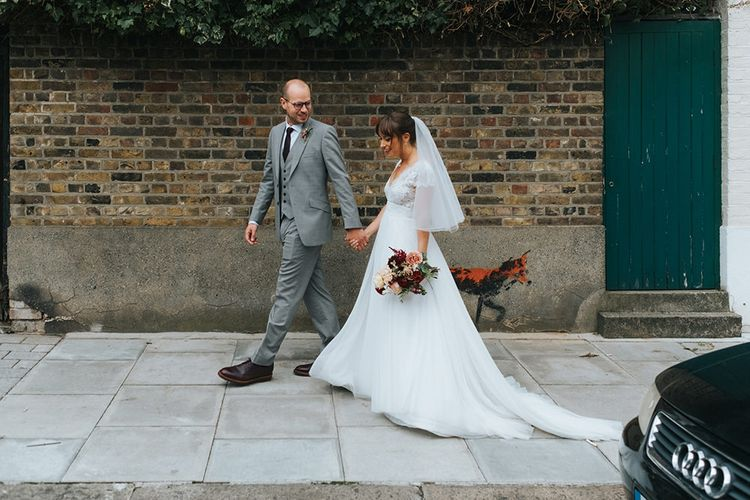 Bride in Cymbeline Wedding Dress | Groom in Bailey Nelson Suit | Laid Back Pub Wedding at The Londesborough | Miss Gen Photography