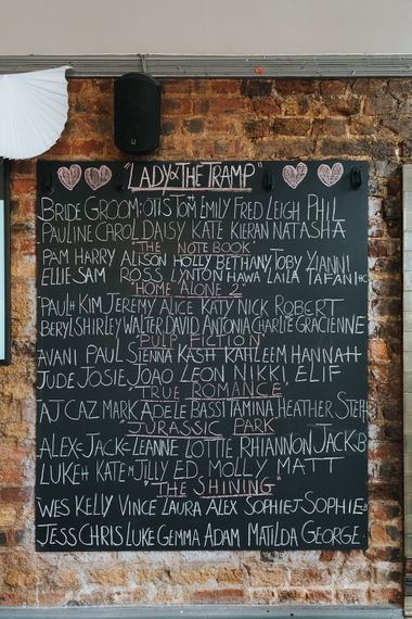 Chalkboard Table Plan | Laid Back Pub Wedding at The Londesborough | Miss Gen Photography