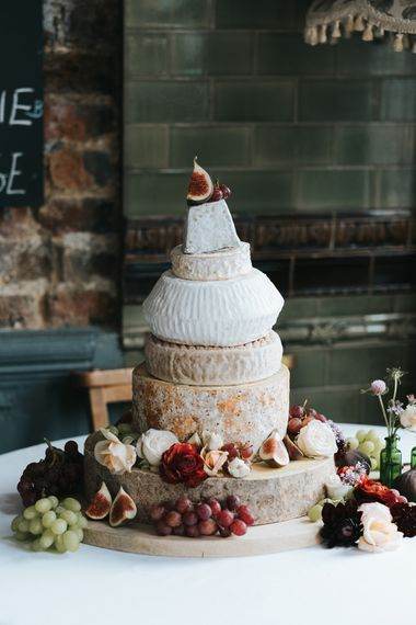Cheese Tower Wedding Cake | Laid Back Pub Wedding at The Londesborough | Miss Gen Photography