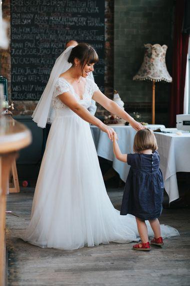 Bride in Cymbeline Wedding Dress | Bride in Cymbeline Wedding Dress | Groom in Bailey Nelson Suit | Laid Back Pub Wedding at The Londesborough | Miss Gen Photography