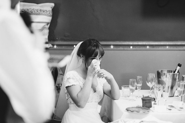 Bride in Cymbeline Angel Wedding Dress | Laid Back Pub Wedding at The Londesborough | Miss Gen Photography