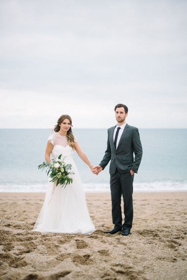 Jesus Peiro Wedding Dress For A Beach Wedding Shoot