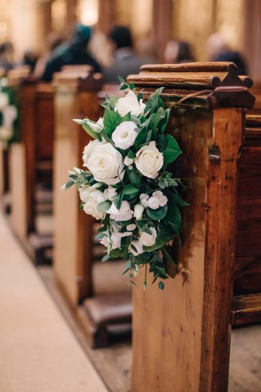Pew End White Wedding Flowers