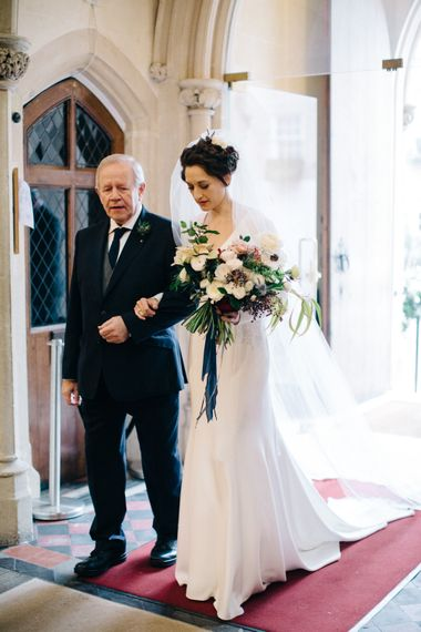 Church Bridal Entrance with Bride in Charlotte Simpson Wedding Dress