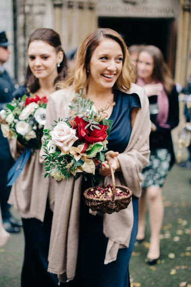 Bridesmaids with Confetti Baskets