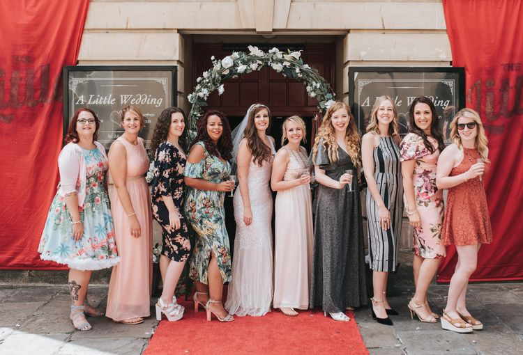 Sequin Phase Eight Wedding Dress For A Relaxed Wedding At The Little Theatre Cinema & The Silk Mill Studios With Image By Pear & Bear Photography