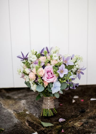 Pastel Wedding Flowers For Summer Wedding // Rustic Tipi Wedding With Handmade Details At Purbeck Valley Farmhouse With Coastal Tents Tipi And Images From Darima Frampton Photography