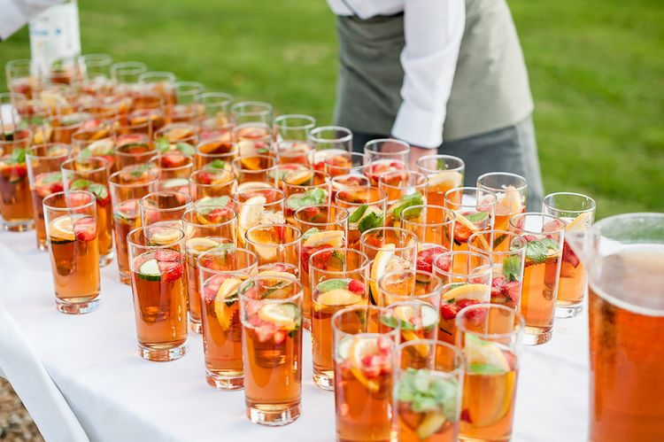 Pimm's At Wedding // Rustic Tipi Wedding With Handmade Details At Purbeck Valley Farmhouse With Coastal Tents Tipi And Images From Darima Frampton Photography