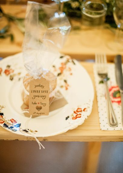 Smores Wedding Favours // Rustic Tipi Wedding With Handmade Details At Purbeck Valley Farmhouse With Coastal Tents Tipi And Images From Darima Frampton Photography