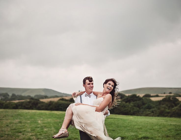 Rustic Tipi Wedding With Handmade Details At Purbeck Valley Farmhouse With Coastal Tents Tipi And Images From Darima Frampton Photography