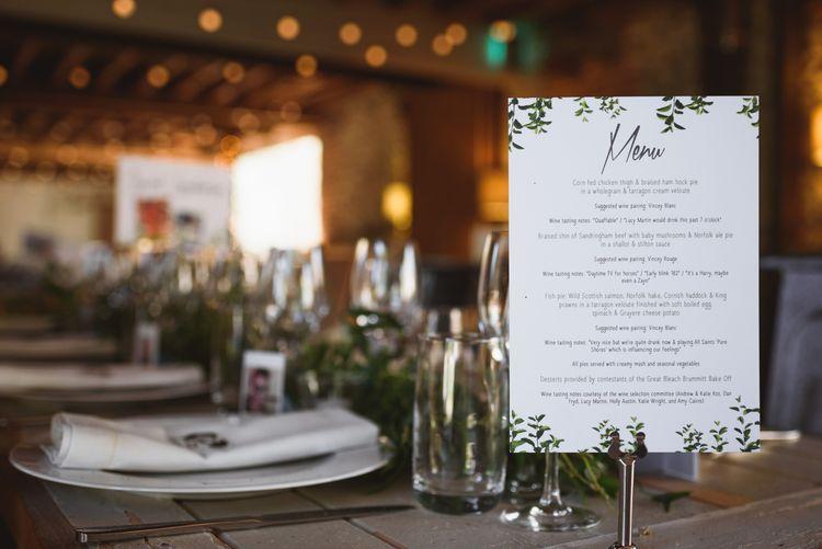 Greenery & White Wedding Stationery