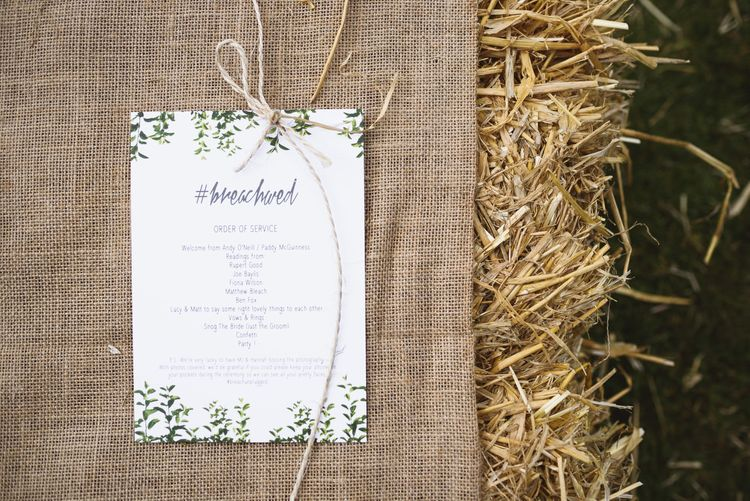 White & Greenery Wedding Stationery