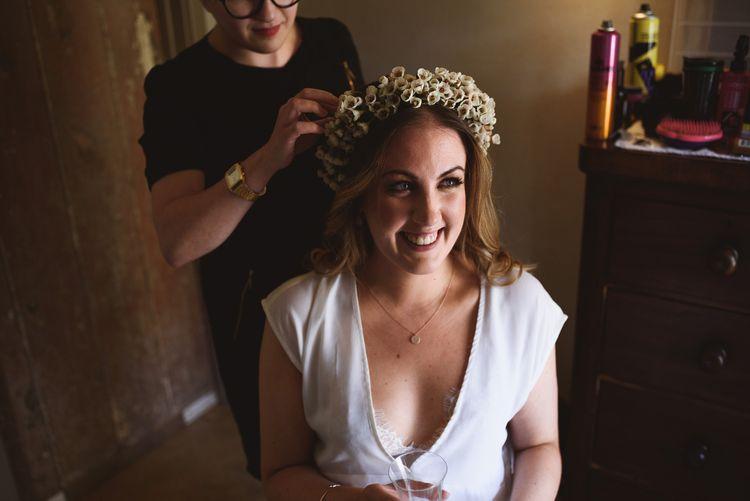 Bride with Wild Flower Crown
