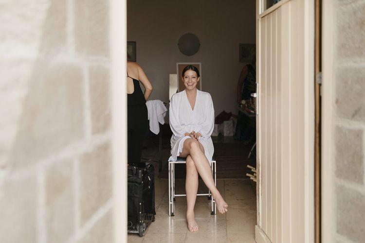 Bridal Preparations | Romantic Pink & White French Riviera Wedding at Chateau Saint Jeannet | Sebastien Boudot Photography | Shoot Me Now Films