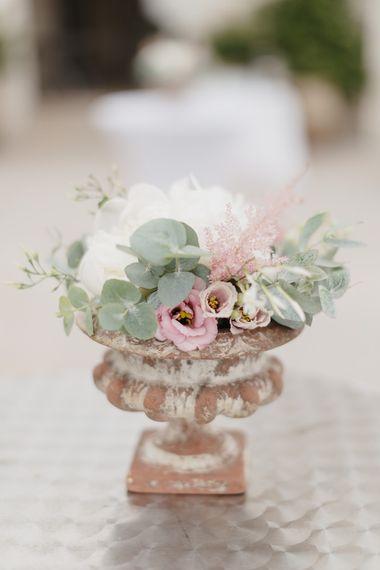 Wedding Flowers | Romantic Pink & White French Riviera Wedding at Chateau Saint Jeannet | Sebastien Boudot Photography | Shoot Me Now Films