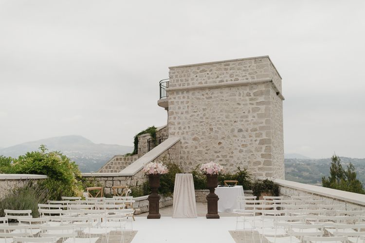 Romantic Pink & White French Riviera Wedding at Chateau Saint Jeannet | Sebastien Boudot Photography | Shoot Me Now Films