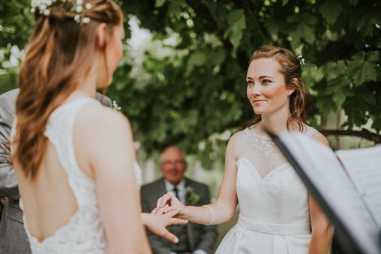 Two Brides with ASOS & Arielle by Heidi Hudson Wedding Dresses | Rustic Tipi Wedding at The Grange, Belluton, Pensford | Images by Felix Russell-Saw & Ryan Winterbotham