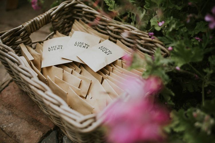 Wedding Favours | Rustic Tipi Wedding at The Grange, Belluton, Pensford | Images by Felix Russell-Saw & Ryan Winterbotham