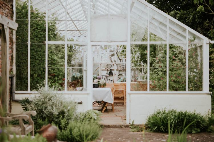 Greenhouse | Rustic Tipi Wedding at The Grange, Belluton, Pensford | Images by Felix Russell-Saw & Ryan Winterbotham