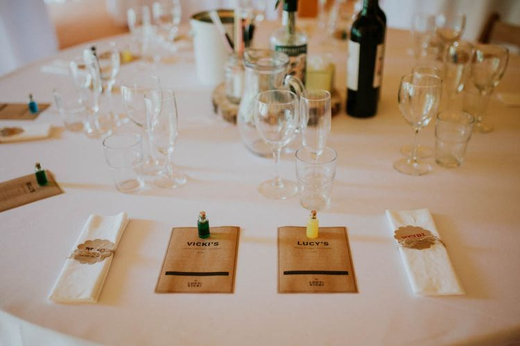 Place Setting | Rustic Tipi Wedding at The Grange, Belluton, Pensford | Images by Felix Russell-Saw & Ryan Winterbotham