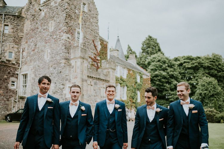 Groomsmen in Ted Baker Suits from Moss Bros